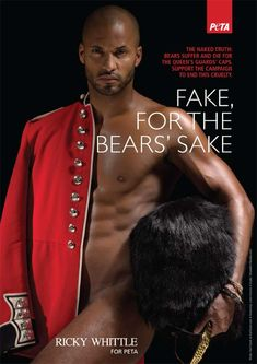 PETA& known for its use of scantily clad women in advertising, but many famous men have also showed skin for the animal rights group. These are some of those men. Hot British Actors, Jamie Bamber, Martin Shaw, Ricky Whittle, Powerful Pictures, Carol Vorderman, American Gods, Tommy Lee, Scantily Clad