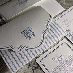 Invitation Pocketfold Letterpressed