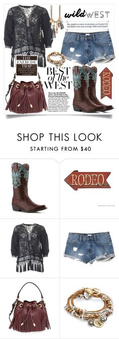 """Wild West 1"" by doltshey ❤ liked on Polyvore featuring Madden Girl, French Connection, RVCA, Milly and Lizzy James"