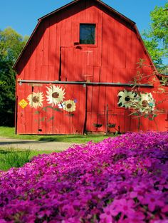 Red Barn at an Asheville bed and breakfast in the Blue Ridge Mountains of North Carolina
