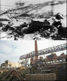 Then & Now Fighting in the Tractor Factory, Stalingrad.