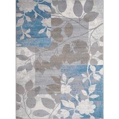 Home Dynamix Tremont Collection Beige-Blue (7'10 x 10'6) Polypropylene Machine Made Area Rug