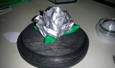 Melted spoon rose in silver