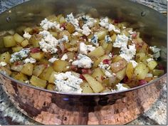Recipe of the Month May: Roasted Diced Potatoes with Gorgonzola http://www.lindasitaliantable.com/recipe-of-the-month-may-roasted-diced-potatoes-with-gorgonzola/