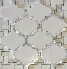 Premium Greece White Thassos & Mother Of Pearl. Decor, Shabby Chic Kitchen, Beautiful Bathrooms, House Design, House Interior, Pearl Tile, Mother Of Pearl Backsplash, Mosaic Tiles, Pearl Backsplash