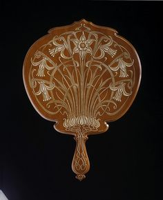 Art Nouveau Carved Mirror Back Made Of Pearwood - Francis George Wood c.1901 - The Victoria & Albert Museum | JV