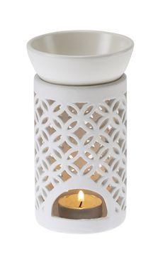 Casa UNO Ceramic Lattice OIL Burner Scented Fragrance Decor Matte White NEW | eBay