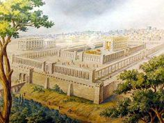 King Solomon's Temple 953 BC.  Built by King Solomon , David's son, following  the detailed instructions by God Himself. It was destroyed by the Babalonians, rebuilt and destroyed a second time by the Romans in 70 AD