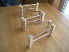 Natural wood toy animal fences 5 sections by jm6shop on Etsy, $7.00
