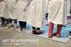 Rambling Renovators: A Parisian Art Splatter Party