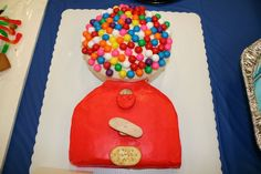 A friend found this on a Cub Scout cake competition page. Wish I knew the origin, but they did a great job making it look real in joining the square and round cakes, by rounding down the top of the square cake.