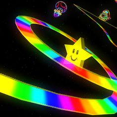 This is *my version* of the fantastic Rainbow Road tune from Nintendo's Super Mario Kart. While I very much liked the Rainbow Road tune, this one will . Broken Dreams, Mario Kart 64, Mario Bros, Mario Kart Rainbow Road, Wubba Lubba, Retro Vintage, Indie, Arte Horror, Startup