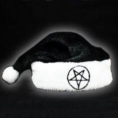 Pentagram Santa Hat.  Merry Fucking Christmas!
