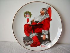 "1950s Vintage Norman Rockwell Special Edition Collector's Plate named ""After Christmas"" that was made in Japan by VintageFindsbySuzi on Etsy"