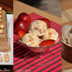 Retete de vara: inghetata, parfait, sorbet, granita Sorbet, Parfait, Deserts, Muffin, Ice Cream, Vegan, Mai, Breakfast, Food