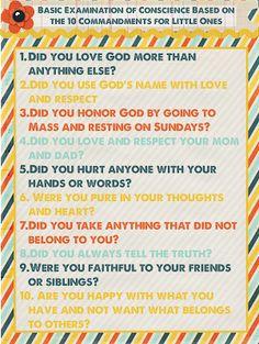 Raising (& Teaching) Little Saints | Catholic Homeschooling & Traditional Catholic: First Confession Prep: Examination of Conscience {Free Printable}