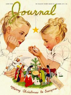 """Stunning cover: """"Ladies' Home Journal"""" - December 1947 - Cover illustration by…"""