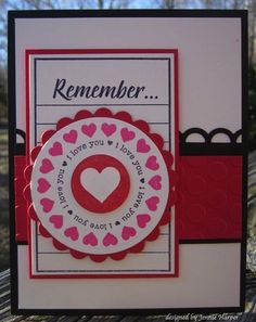 valentine's card.  I love all the shapes and layers on this card.  I may have to make it for other holidays too!