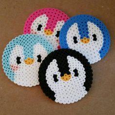 Penguin Perler Bead Coasters by GinganinjasNerdShop on Etsy