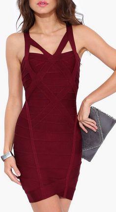 Plum Bandage Dress