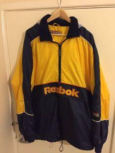 57706631dd  Vintage reebok 80s 90s rave  indie  pullover jacket size xl