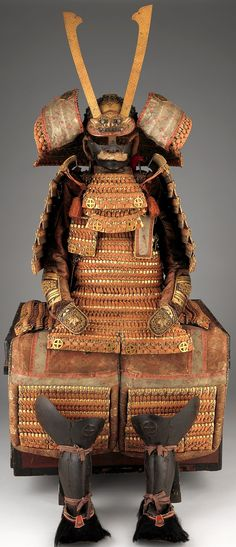 O-yoroi, 19th century, iron, copper, gold, lacquer, silk, leather, textile, Met Museum.