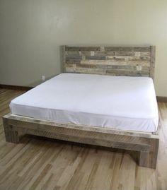 Platform Bed Platform Beds Bed Frame Reclaimed by JNMRusticDesigns