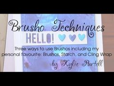 Three ways to use Brusho Crystals. My personal favourite is using Brushos, Starch and Cling Wrap to create a beautiful background with deep, bold colours. Could use Color Bursts as well.
