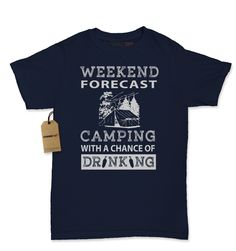 Weekend Forecast Camping With A Chance Of Drinking Womens T-shirt