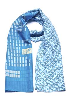 Shades of blue on a fine cotton-silk blend. #MomPreneursAdventsbasar