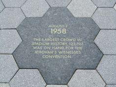 Plaque at Yankee Stadium for JW