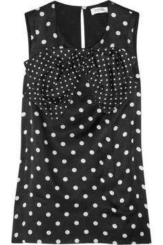Polka dots ánd a bow!? Could this blouse bé any better? By Sonia Rykiel.