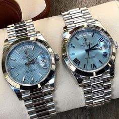 Double trouble .... DAY DATE 40 platinum Ref 228206 Which dial you prefer?... | http://ift.tt/2cBdL3X shares Rolex Watches collection #Get #men #rolex #watches #fashion