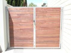 Image result for metal frame wood gate horizontal