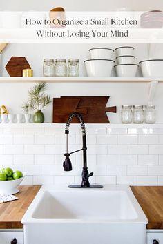 8 Smart Ways to Organize a Small Kitchen via @PureWow