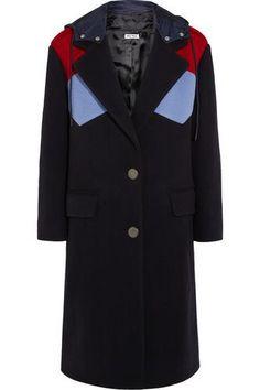 Color-block wool coat #coat #covetme #miumiu
