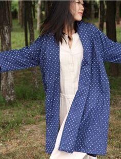 TP4 designer double layer cotton coatlong loose by Sunflowercloth, $135.00