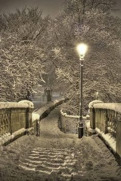 Winter Night in Chester, England