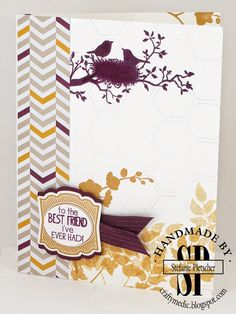 The Crafty Medic: Watercooler Challenge: CASE the Cooler - Stampin' Up! World of Dreams and Label Love stamp sets.