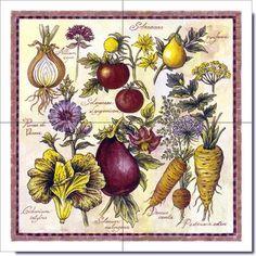 Kitchen Tiles Fruit Design fruits and vegetables tile designs | fruits and vegetables designs