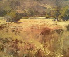 "Vinita Pappas Evening Light, Plein air, gouache on watercolor paper, 5.5""x6.6"", 30-minute-till-sunset painting"