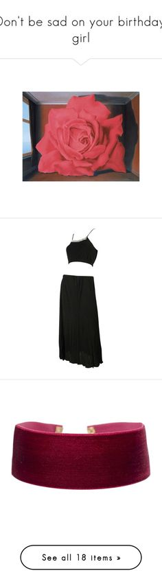 """""""Don't be sad on your birthday, girl"""" by softspace ❤ liked on Polyvore featuring pic, dresses, 70s, black, set, skirts, suits, vintage jerseys, vintage two piece and jewelry"""