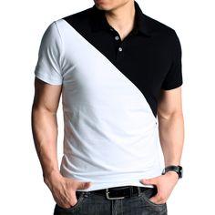 Kuegou Color Block Polo Shirts Code: 20124691 - Men's Polo Shirts - Men's Clothing at Clothing.net