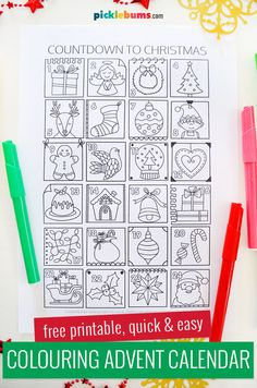 Advent calendar numbers with tasks for more Christmas spirit self-adhesive stickers purple