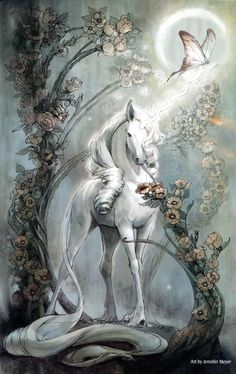 """samantha-sno-white:The Last Unicorn """"The unicorn""""was a marvelous beast, shining with honor, wisdom and strength. Just to see him strengthened the soul. The Unicorn in the Maze Unicorn And Fairies, Unicorn Fantasy, Unicorns And Mermaids, Unicorn Art, White Unicorn, Unicorn Crafts, Unicorn Quotes, Unicorn Makeup, Anime Fantasy"""
