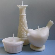 Soy Candles Milk Glass