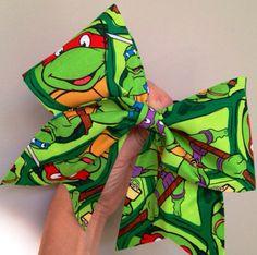 TMNT Fabric Cheer Bow Teenage Mutant Ninja Turtles