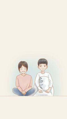 Descendants of the Sun Cute Couple Cartoon, Cute Couple Art, Couple Wallpaper, Love Wallpaper, Descendants, Soon Joong Ki, Goblin Korean Drama, Goblin Art, Drama Gif