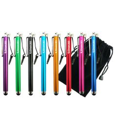 awesome iDream365 Pack of 8 Capacitive Touch Screen Tablet Stylus/Styli Pen for Kindle Fire, Kindle Fire HD 7 8.9, Google Nexus 7, iPad Mini, iPad 2, iPad 3 (the new iPad), iPhone 5 4S, Galaxy S 3,BlackBerry Playbook AMM0101US, Barnes and Noble Nook Color, Droid Bionic + Pouch Price Compared