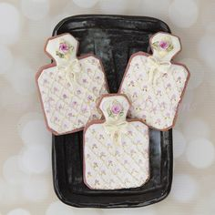 Perfume Bottle Cookies with Dimensional Bows